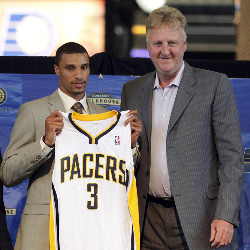 George Hill and Larry Bird