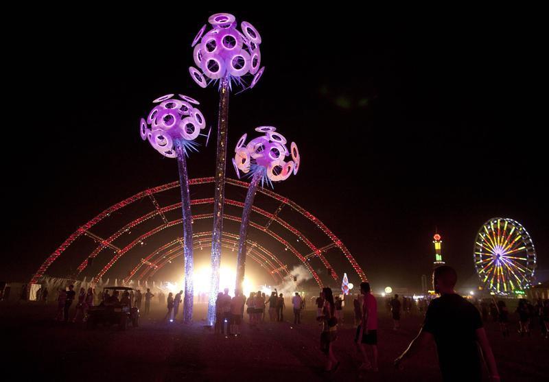 Night scene at Electric Daisy Carnival