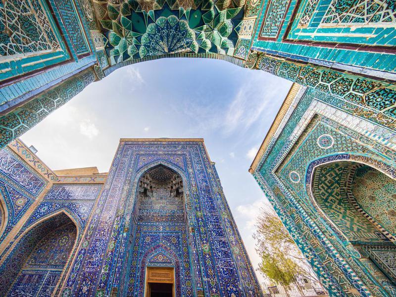 Samarkand Shohizinda  Mausoleum, Tashkent, Uzbekistan
