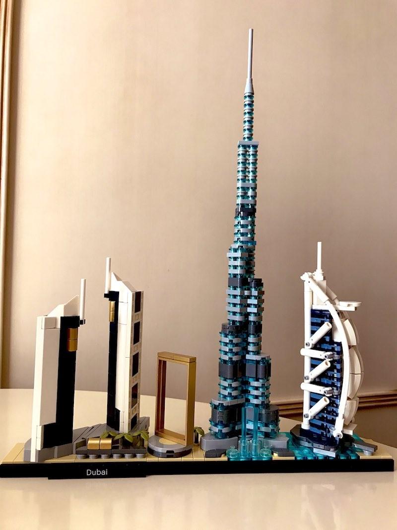 Dubai skyline with Legos