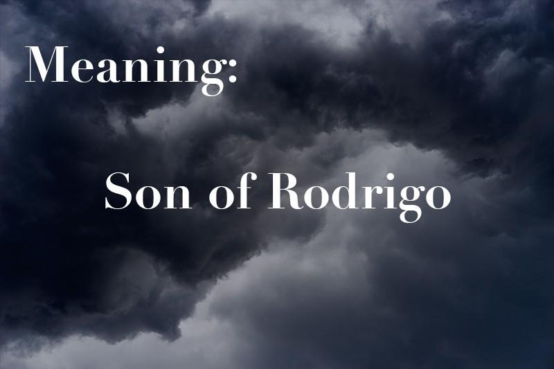 Son of Rodrigo