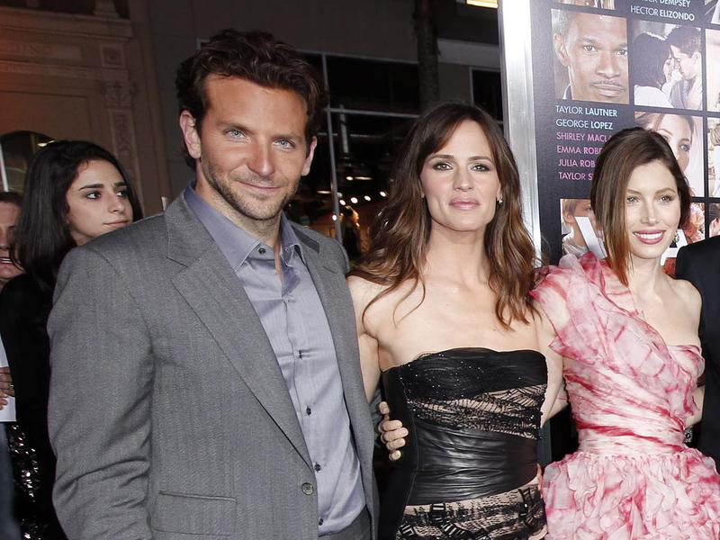 Bradley Cooper, Jennifer Garner and Jessica Biel