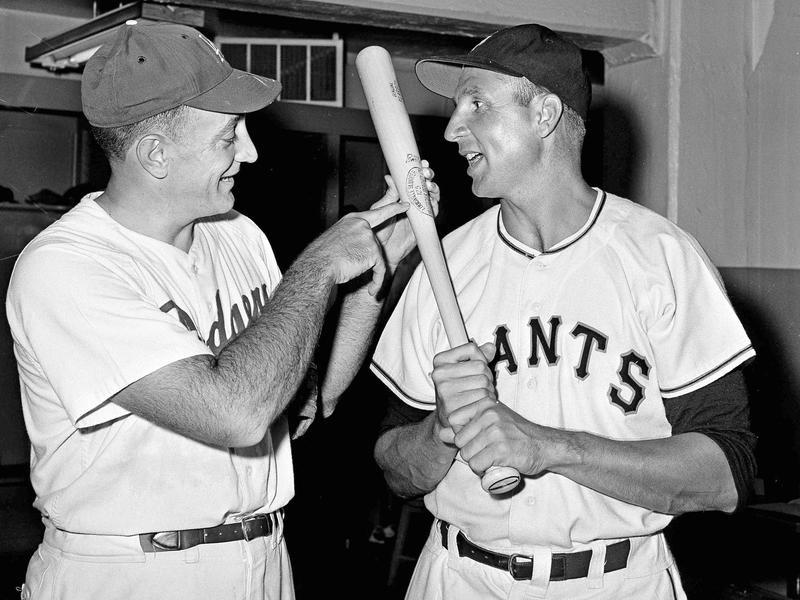 Ralph Branca and Bobby Thomson
