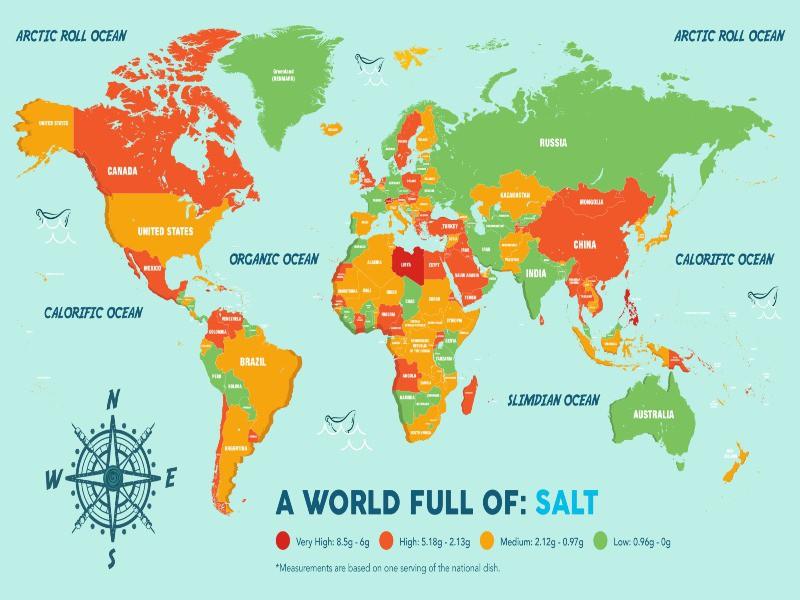 Map of global salt consumption
