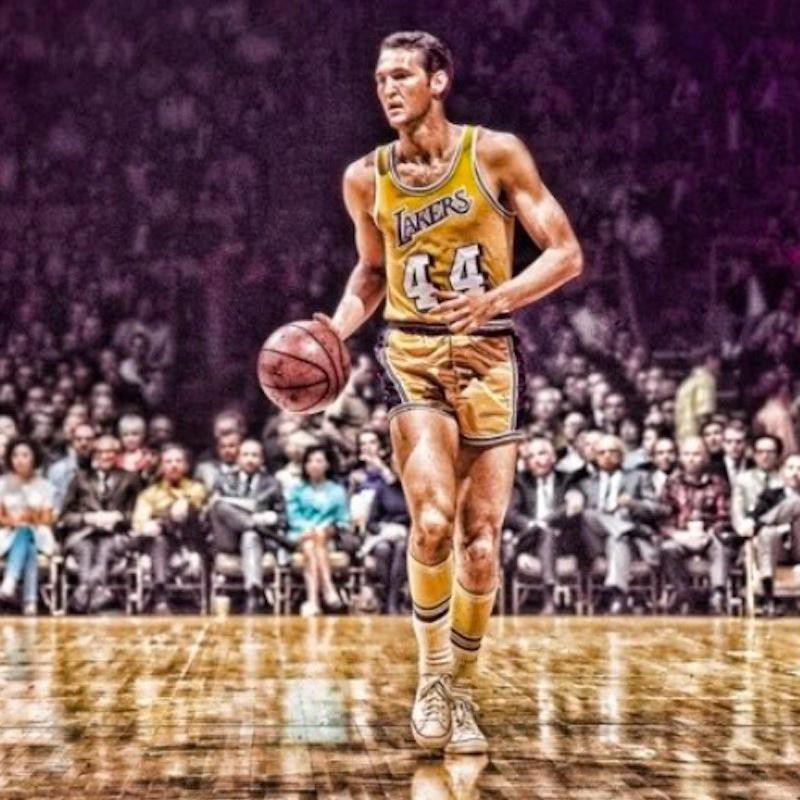Jerry West in action