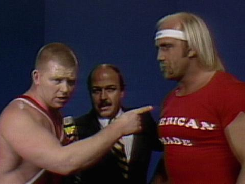 Bob Backlund and Hulk Hogan