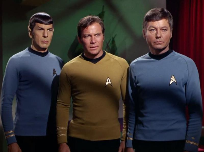 """Shatner (center) and other members of the original """"Star Trek"""" cast were before their time in many ways, including the way they missed out on the era of residuals, the pay many actors now get each time their show airs in reruns."""