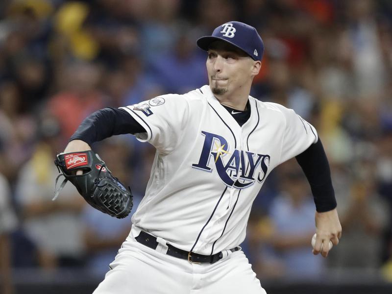 Tampa Bay Rays starting pitcher Blake Snell