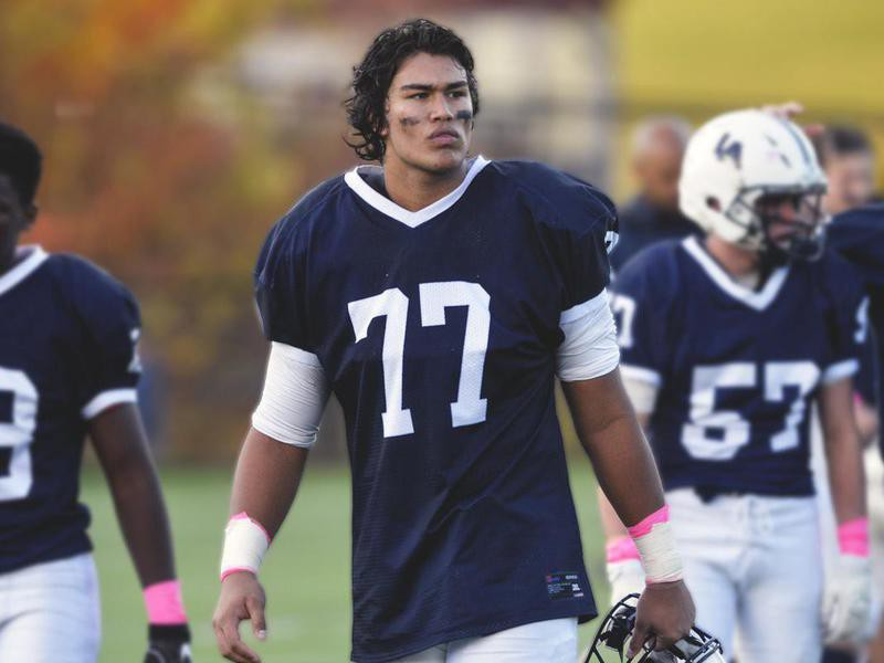 Lawrence Academy offensive Tackle Ty Chan