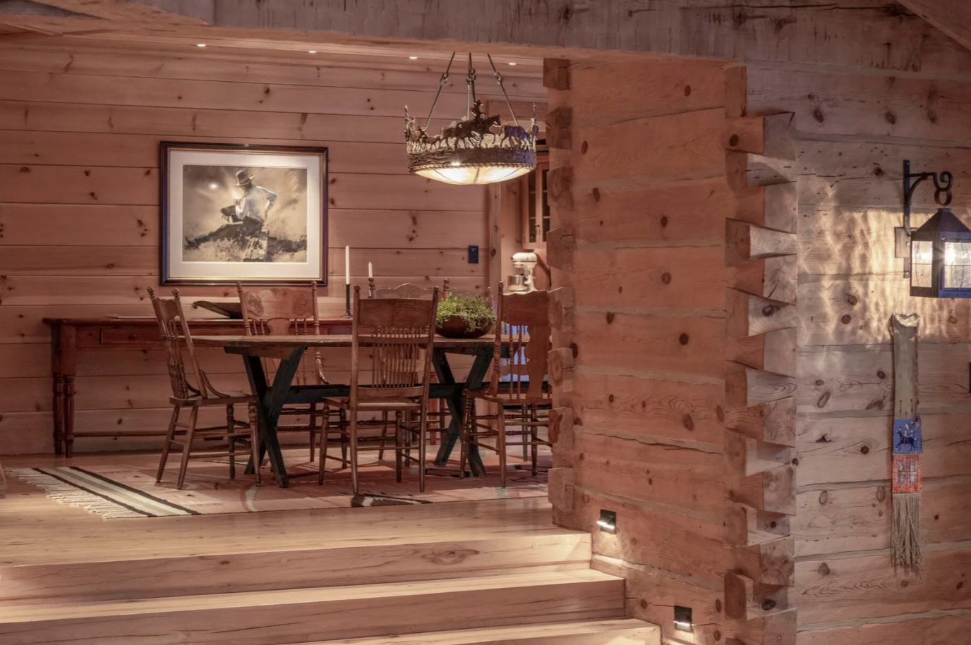 Wood cabin with custom finishes