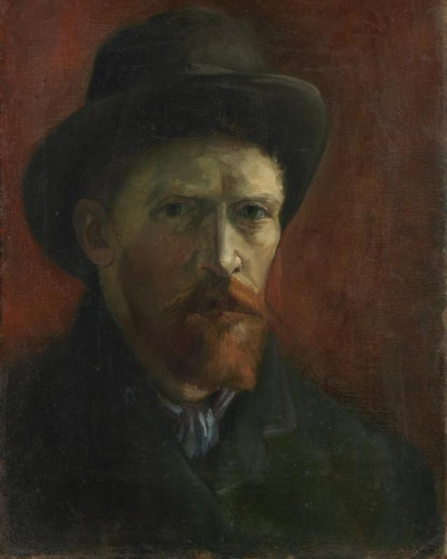 Van Gogh Self-Portrait in a felt hat