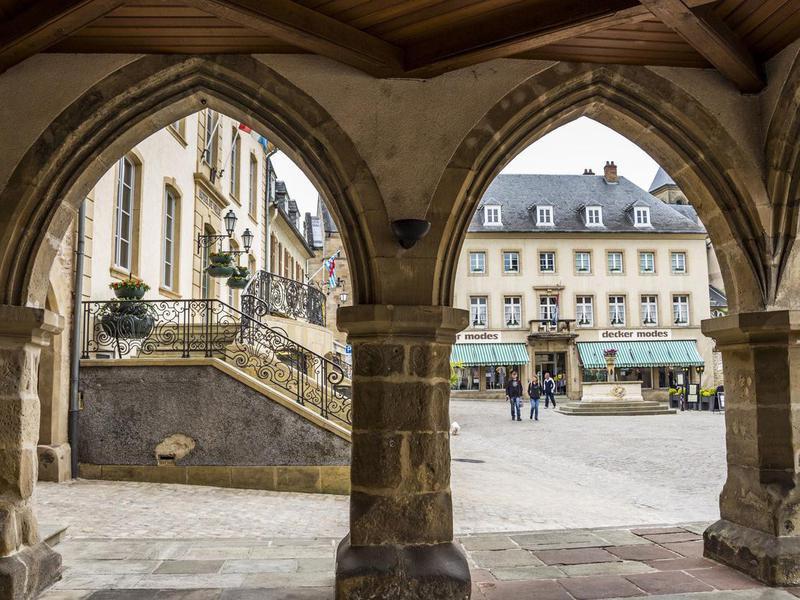 Market Square in Echternach, Luxembourg