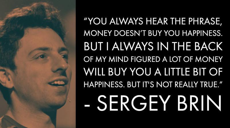 Sergey Brin Money Advice