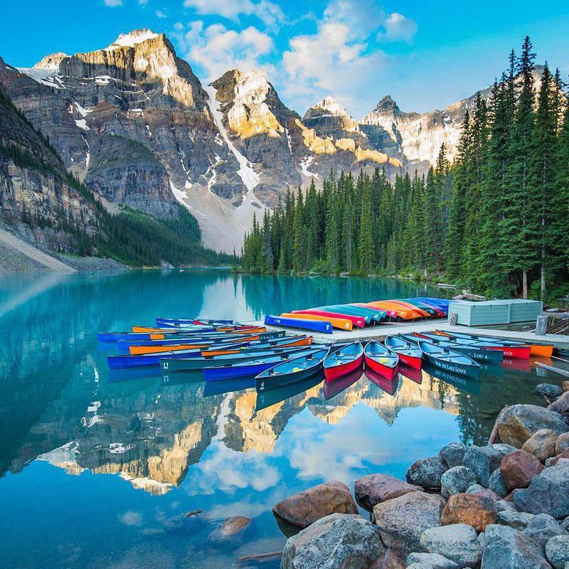 Lake Moraine at Banff National Park
