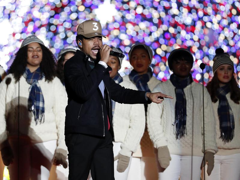 chance the rapper national christmas tree