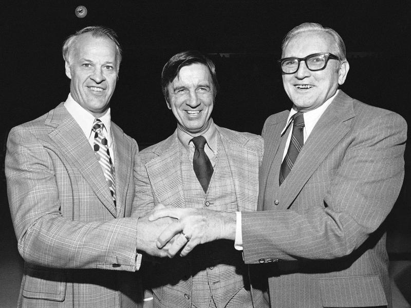 Gordie Howe, Ted Lindsay, Sid Abel