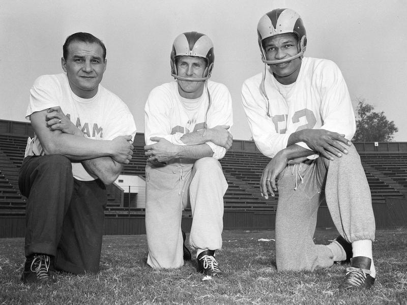 Sid Gillman, Elroy Hirsch, Bob Boyd