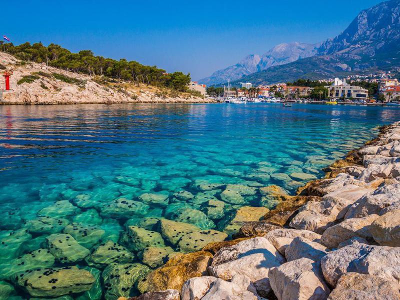 Crystal blue water at Makarska Riviera