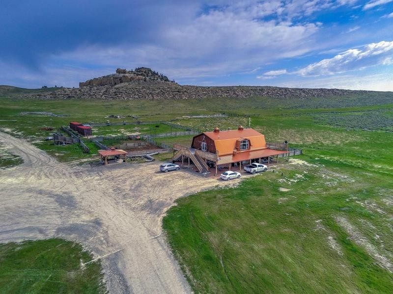 Kanye West's ranch in Wyoming