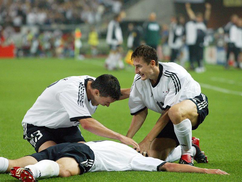 Miroslav Klose, Michael Ballack, Marco Bode