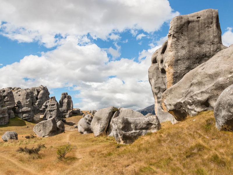 Limestone boulders in Castle Hill, New Zealand