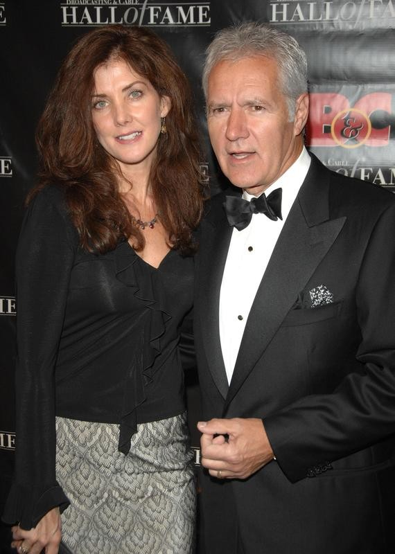 Alex Trebek and his wife, Jean, in 2007