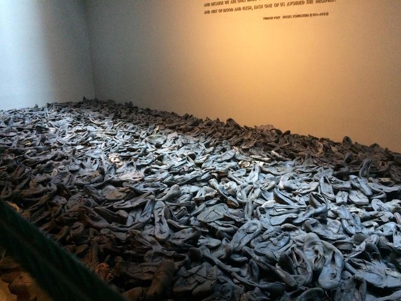 Shoe exhibit at the United States Holocaust Memorial Museum
