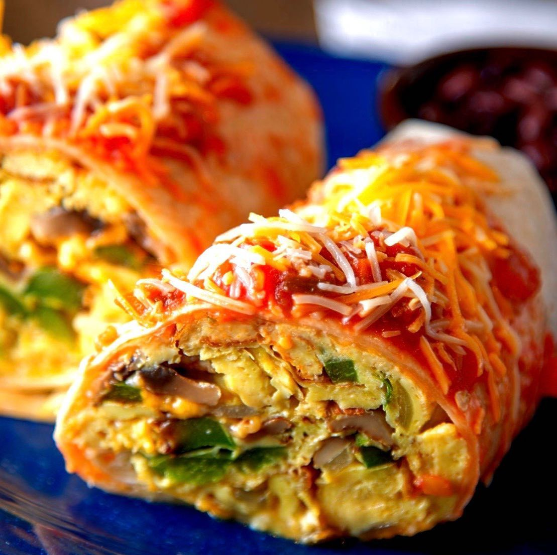 Breakfast burrito at Persy's Place