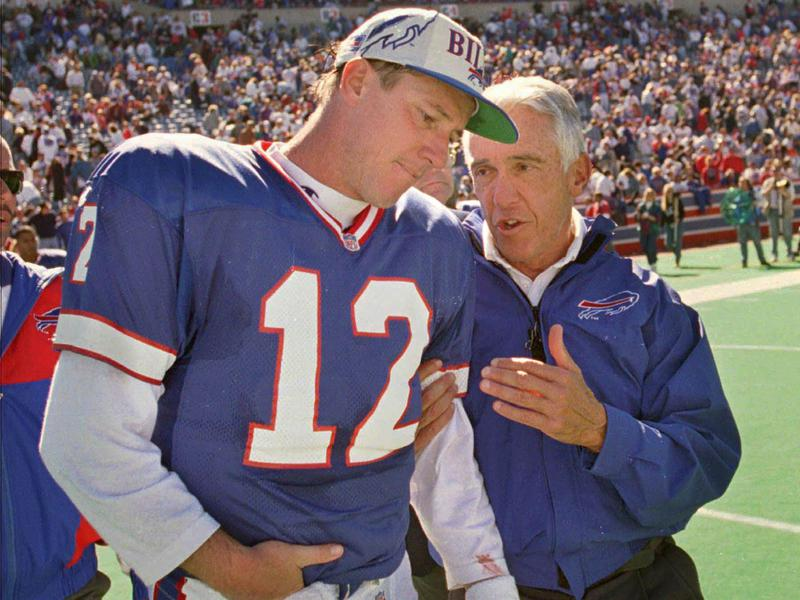 Marv Levy and Jim Kelly