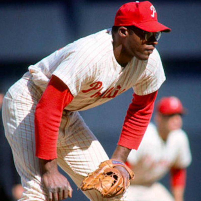 Dick Allen waiting to field the ball