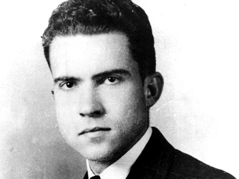 Richard Nixon at Duke University in 1934