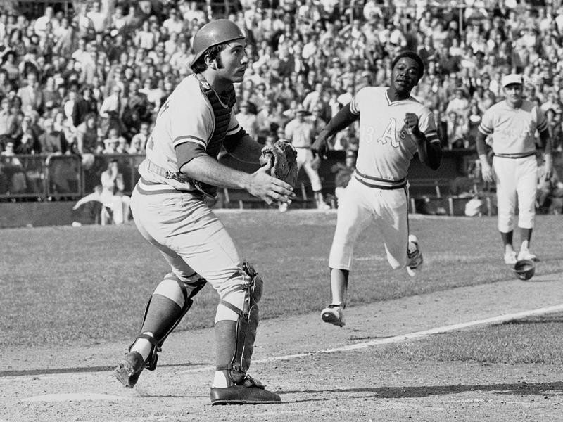 Johnny Bench and Campy Campaneris in 1972 World Series