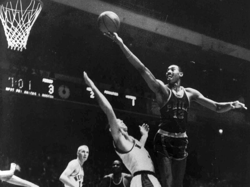 Philadelphia Warriors center Wilt Chamberlain