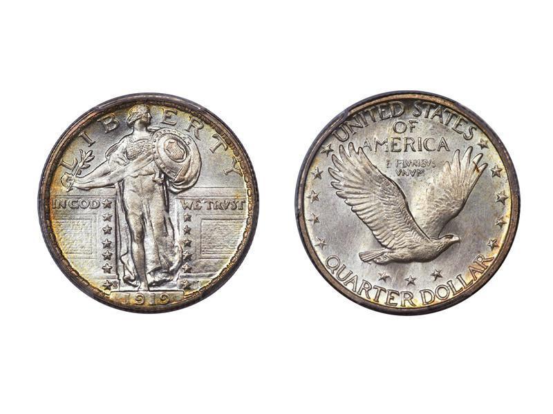 1919-S Full Head Standing Liberty Quarter