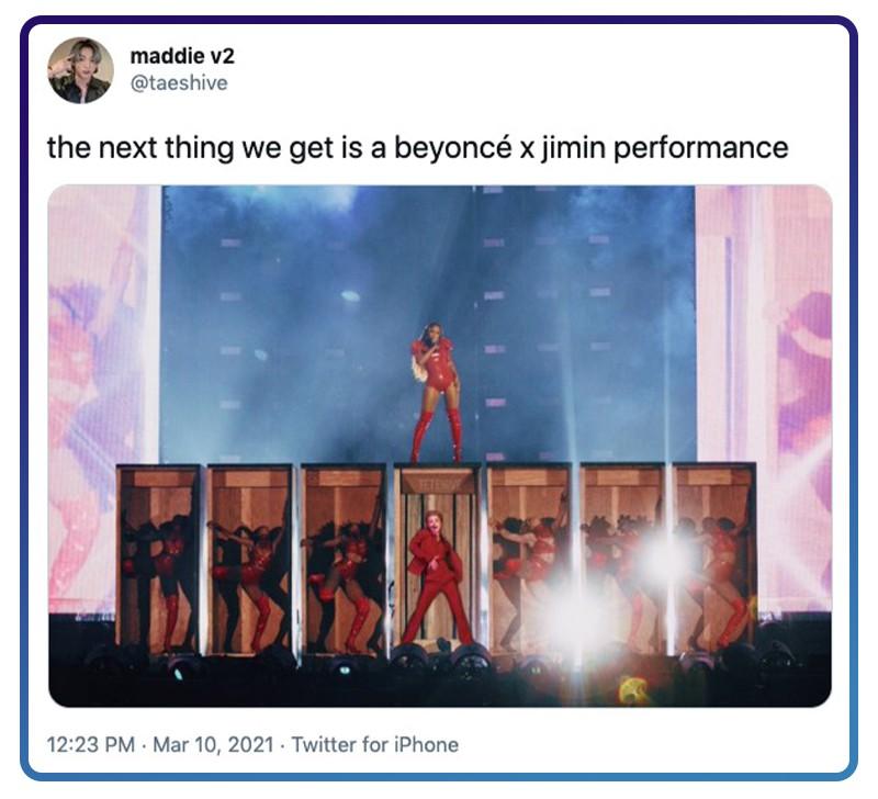Twitter Beyoncé and Jimin