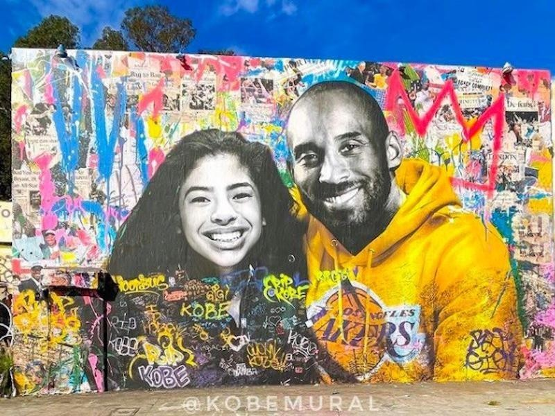 Kobe Bryant mural in Los Angeles
