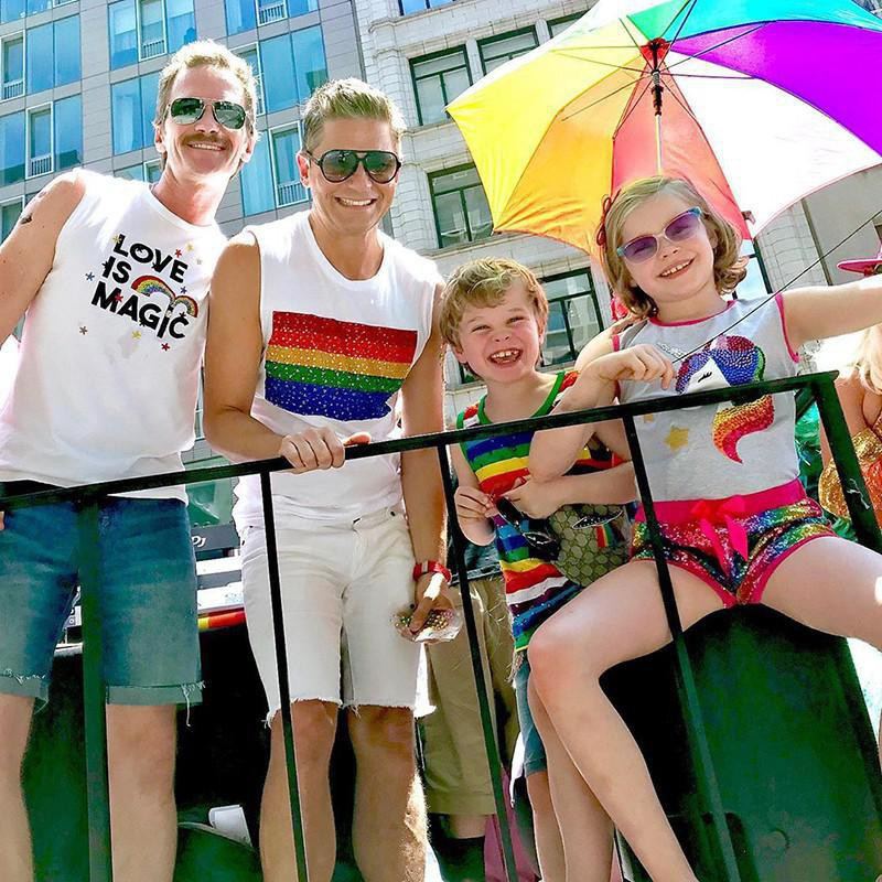Neil Patrick Harris and his children