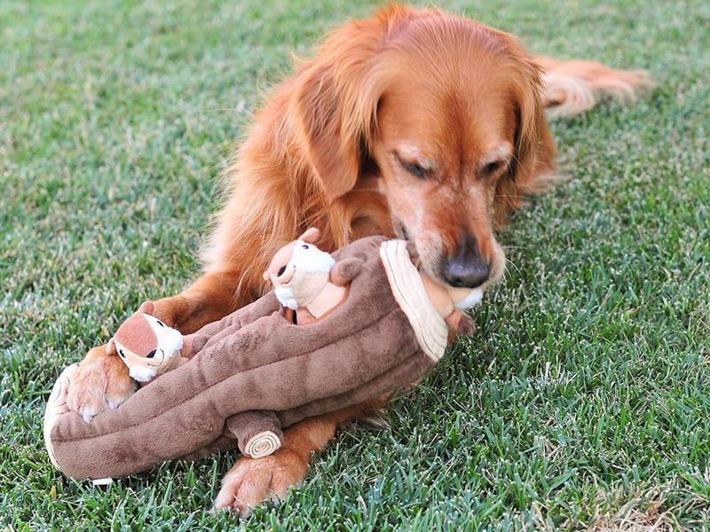 ZippyPaws Woodland Friends Burrow Interactive Dog Toys