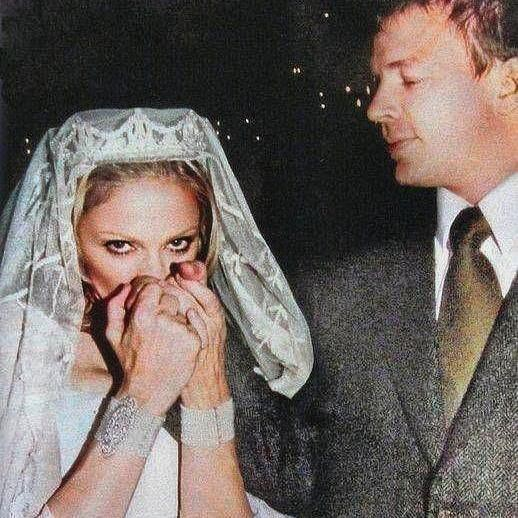 Madonna and Guy Ritchie at wedding