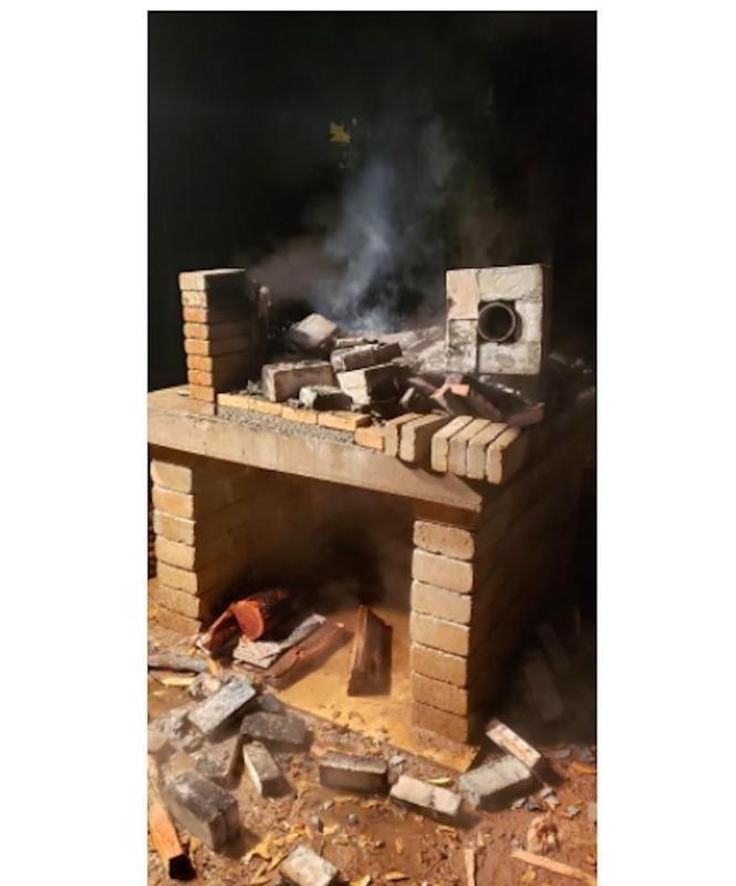 Fire breaks wood-burning oven