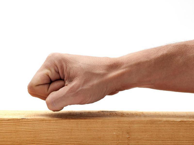 Knocking on wood