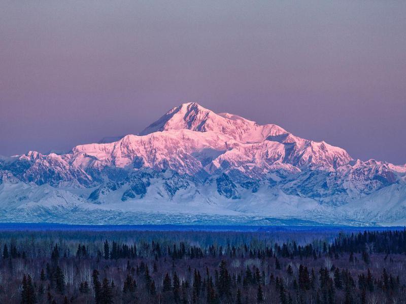 Mount McKinley in Denali National Park, Alaska