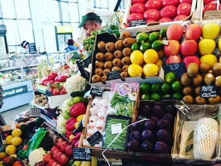 Farmers market in St.Petersburg, Russia