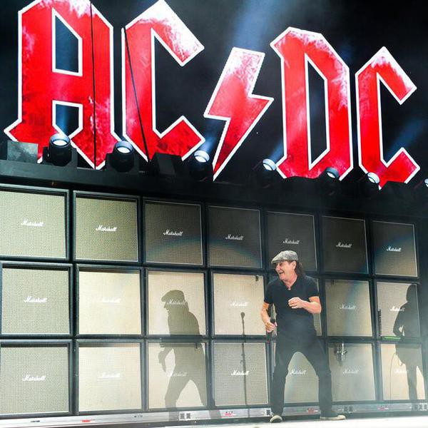 AC/DC frontman Brian Johnson performs at the 2015 Coachella Music and Arts Festival on Friday, April 10, 2015, in Indio, Calif. (Photo by Scott Roth/Invision/AP)