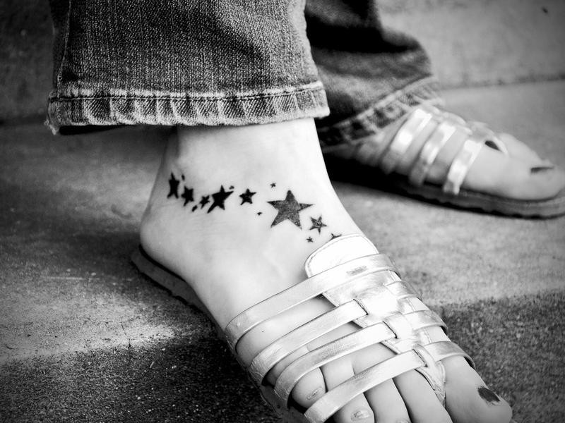 Stars on Top of Foot