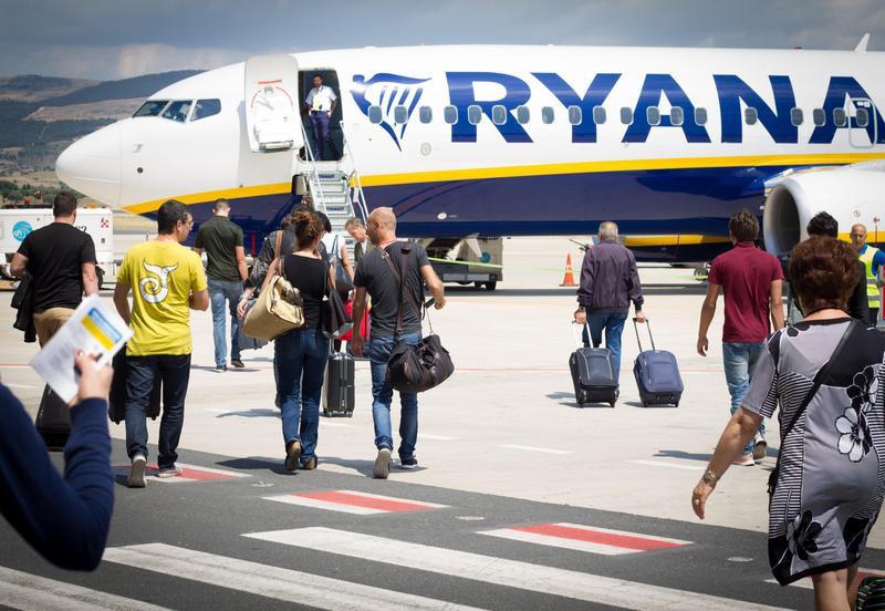 Passengers Boarding Ryanair on Tarmac