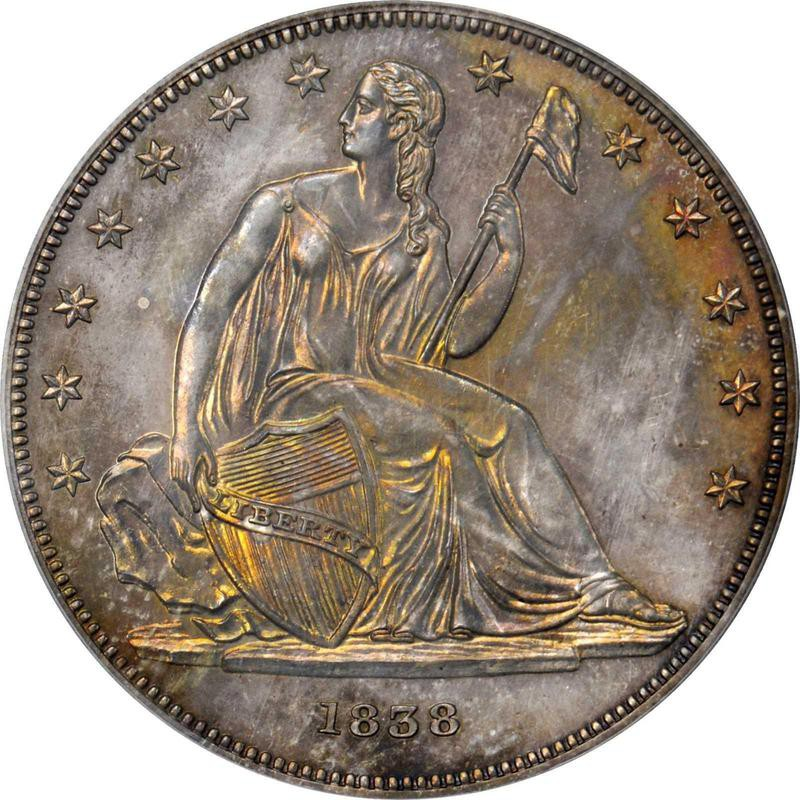 1839 Gobrecht Silver Dollar Jud-88 Restrike