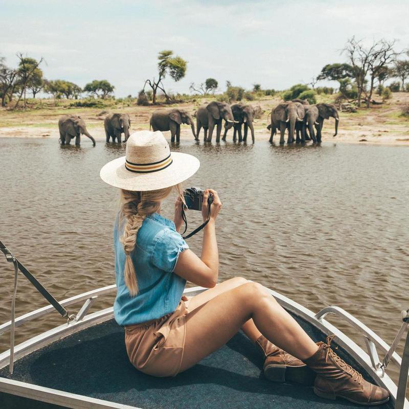 Kiersten Rich on a safari