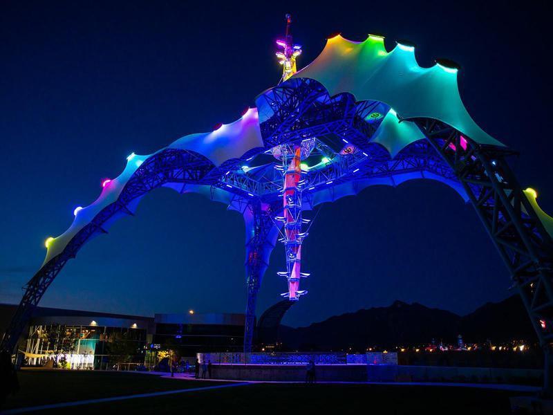 Loveland Living Planet Aquarium light show
