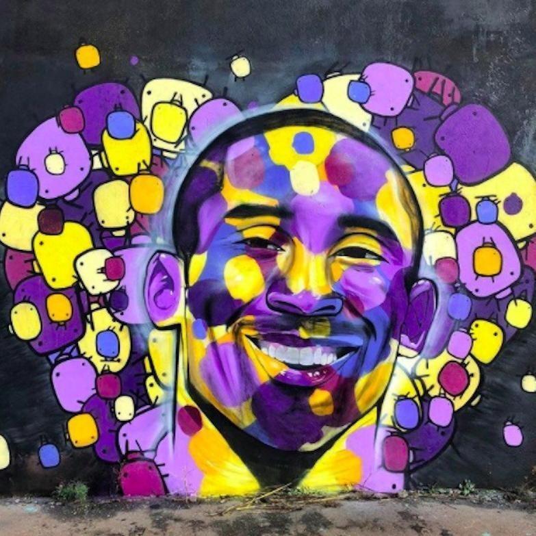 Kobe Bryant mural in France